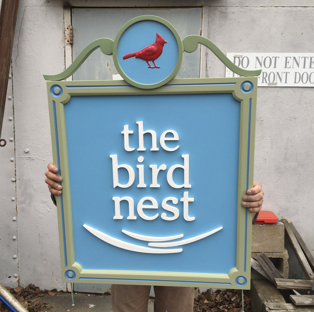 the bird nest carved sign computer sign carving