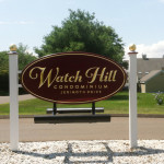 Newel Post Caps Top off Watch-Hill Condominium Sign